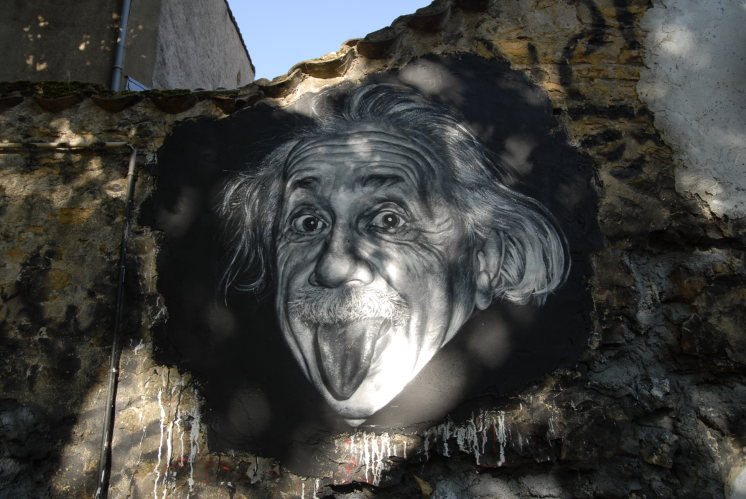 Albert Einstein painted portrait _DDC9392